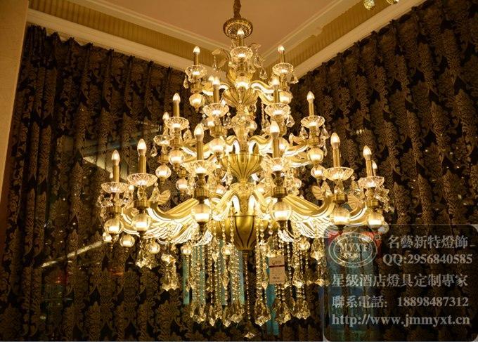 时代广场展厅15年新款欧式水晶灯汇总案例图片
