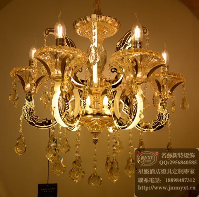 时代广场展厅15年新款欧式水晶灯汇总-名艺新特灯饰
