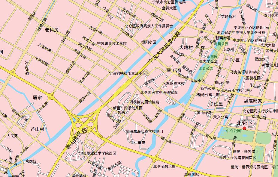 宁波北仑区地图1