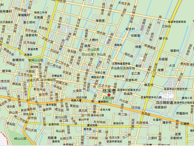 浙江慈溪市地图1