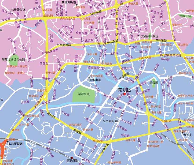 贵州贵阳市地图1
