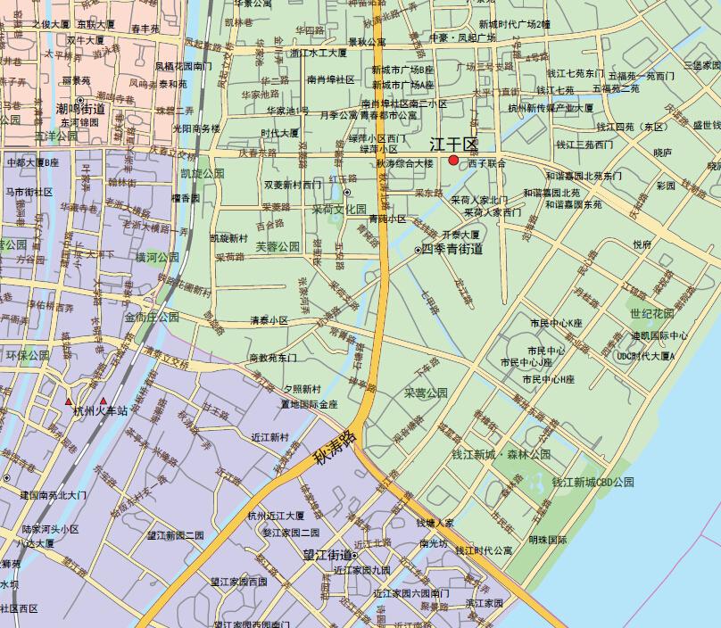 杭州城区地图1