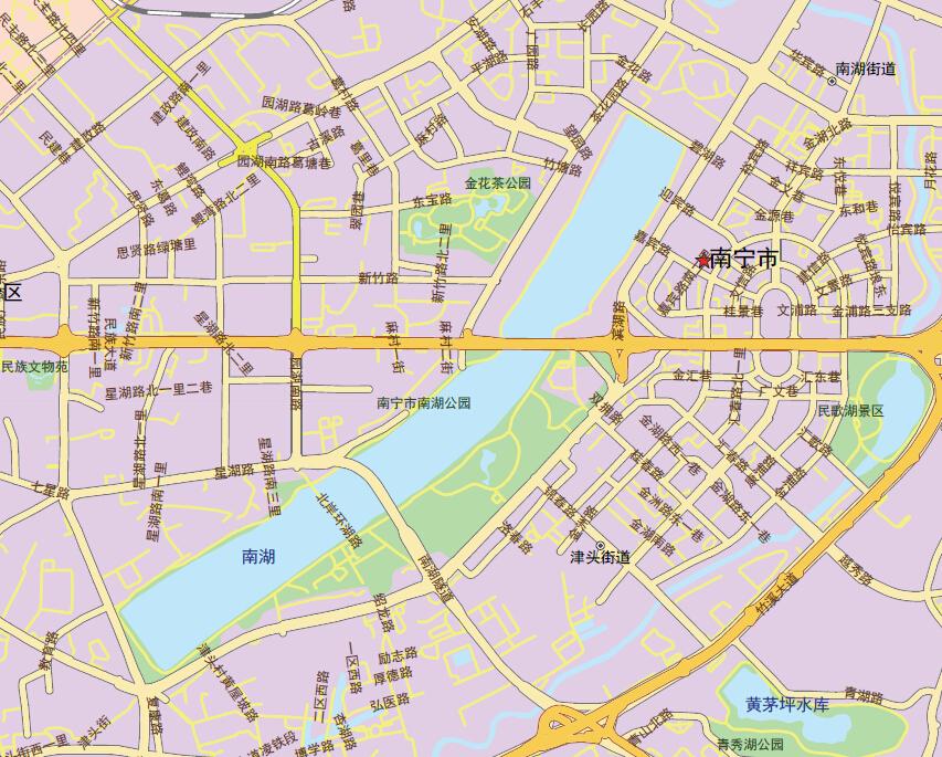 南宁市区地图