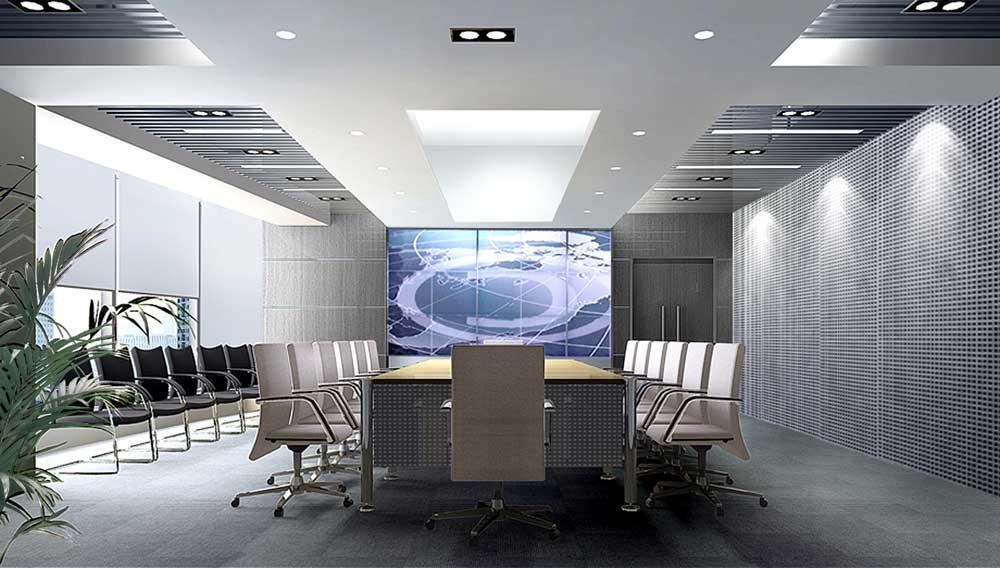 郑州写字楼装修公司1案例图片 郑州办公室装修设计公司的空间 红动中