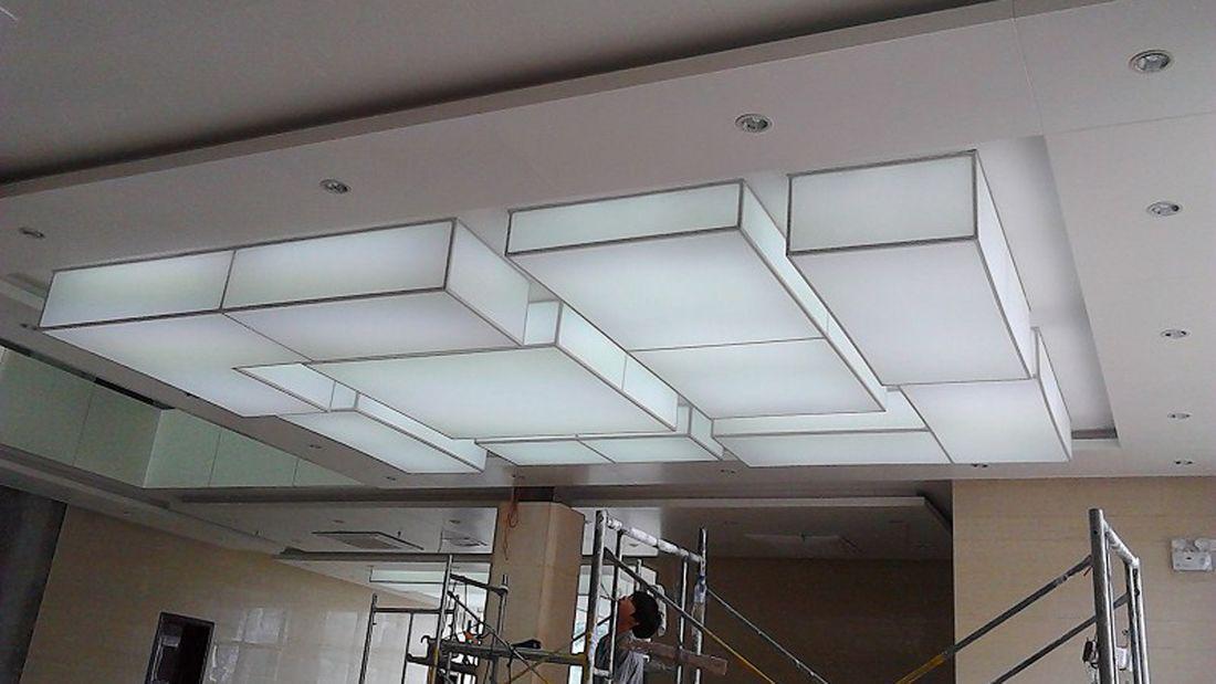 白色发光灯膜|软膜灯柱|彩色灯膜1