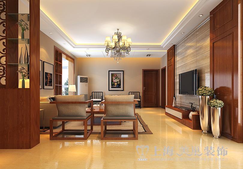 平方三室两厅新中式装修效果图