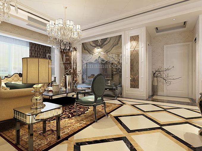 装修VIP专线:13592674700 (微信在线)**Q Q:1970197900**美巢装饰这套,昌建誉峰170四室两厅简欧装修效果图案例,简欧追求的是美观,高端,大气,舒适的生活空间理念,此案例设计的主题是高端大气的生活,设计中将简欧的一面展示到空间的每一个角落,让空间的氛围变得很唯美,设计中运用到的材料有石材、护墙板、且边镜、软包、壁纸等**美巢装饰官网:http://www.
