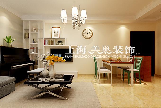 正商恒钻80平两室两厅简欧装修样板间1高清图片