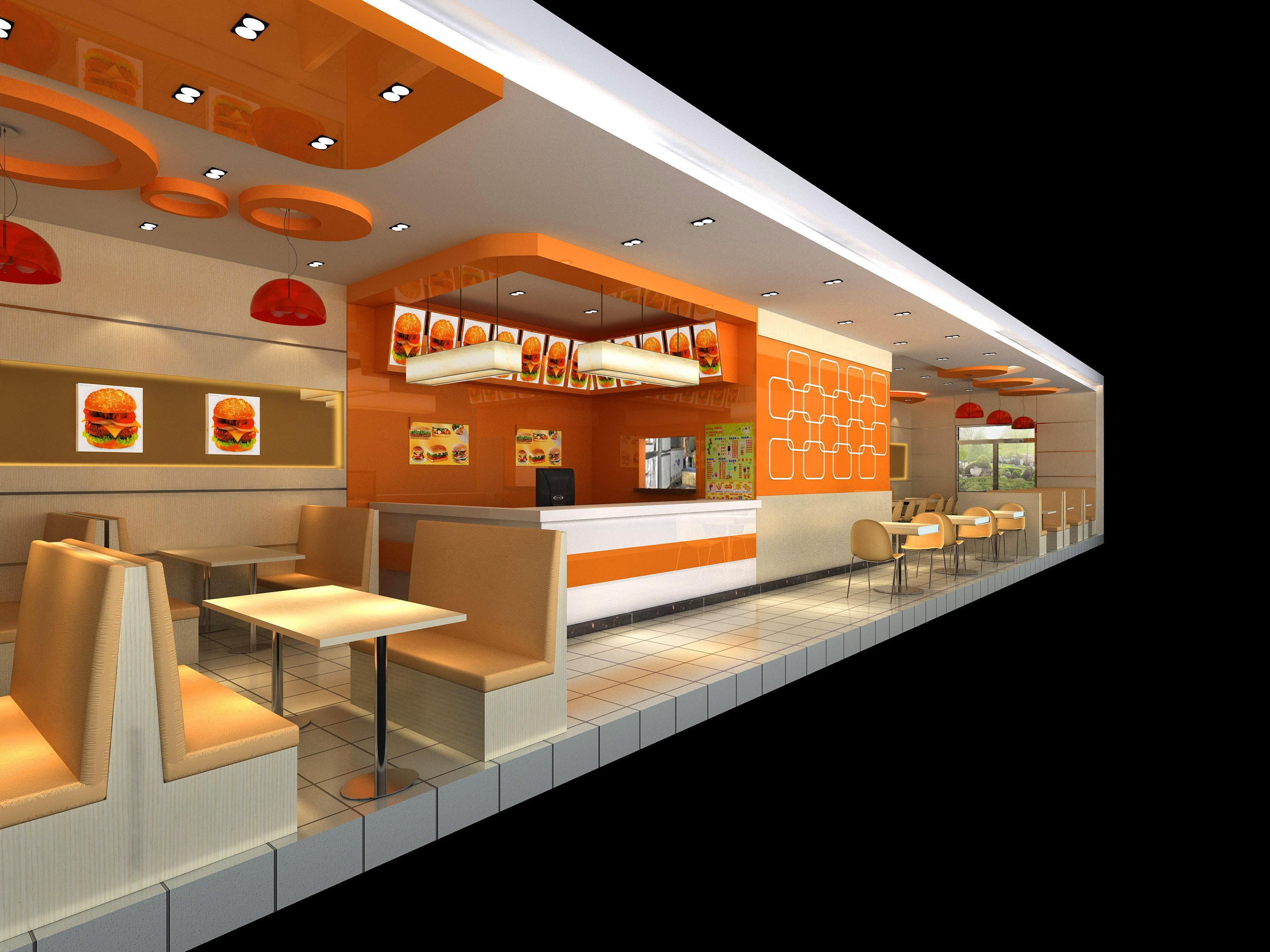 郑州快餐店装修设计,郑州快餐馆装修设计基本要求12345案例图片