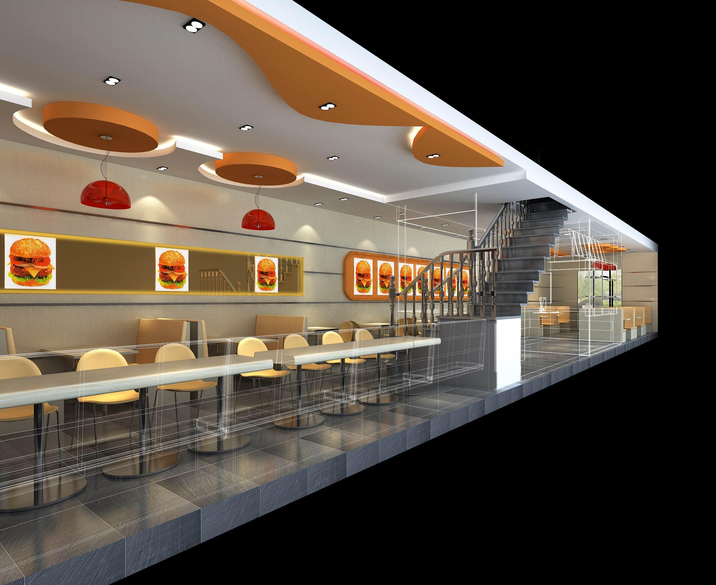 郑州快餐店装修设计,郑州快餐馆装修设计基本要求1234案例图片 中