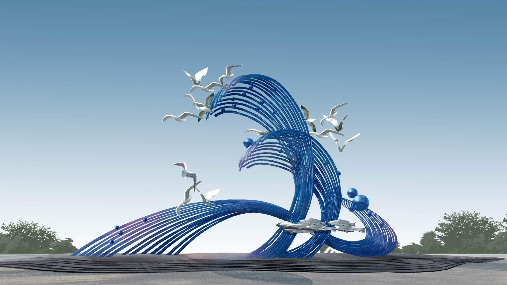 不锈钢园林景观雕塑设计-【金兰草雕塑公司】图片