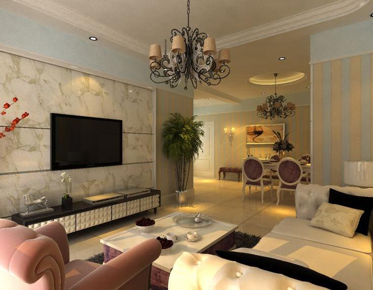 计空间 开祥御龙城85平两室地中海装修效果图 三室两厅装修效果图高清图片