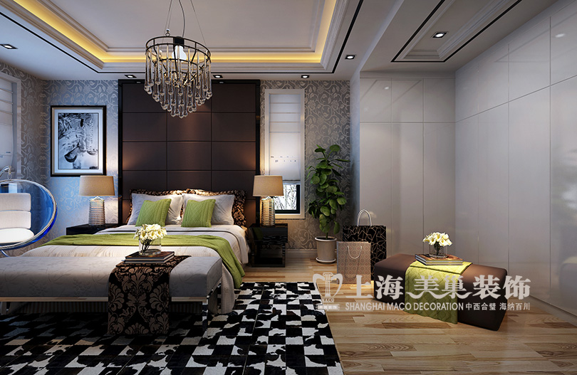 金域上郡136平三室两厅现代简约装修效果图12345高清图片