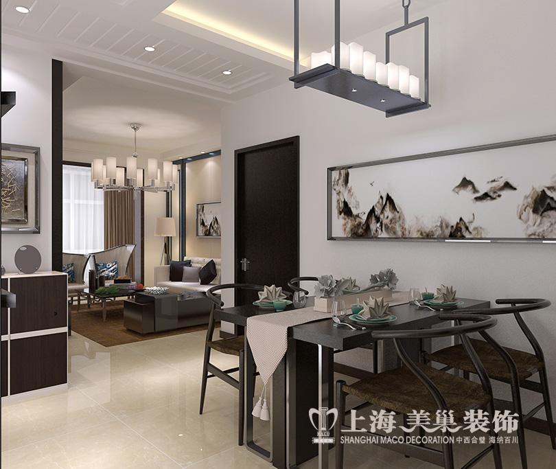 正商城80平两室装修古朴新中式效果图样板间678高清图片