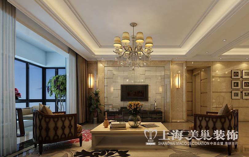 锦绣山河88平小三房装修效果图独特的田园意蕴1高清图片