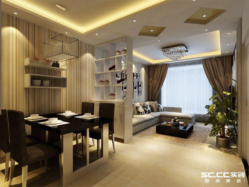创装饰 开祥御龙城85平 两居室装修效果图12案例图片 郑州实创装饰高清图片