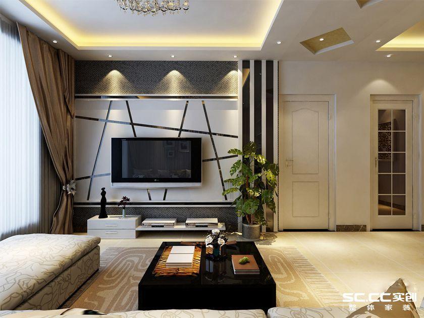 创装饰 开祥御龙城85平 两居室装修效果图123案例图片 郑州实创装高清图片