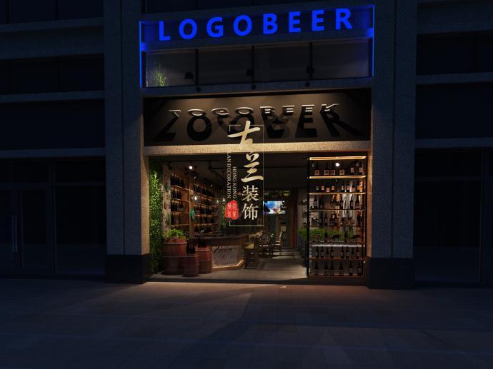 酒吧卡座手绘立面图