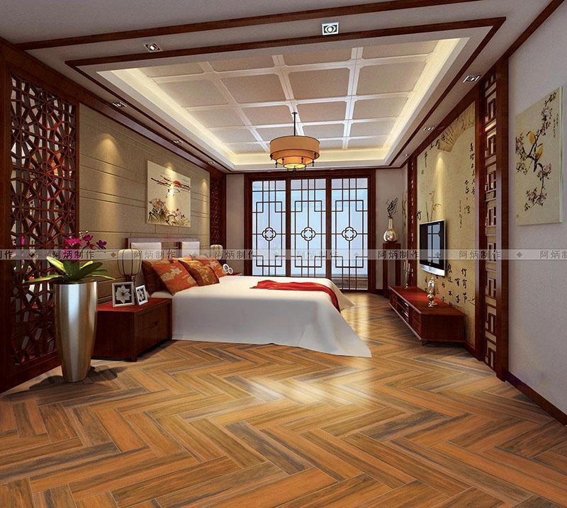S木纹砖铺图 瓷砖效果图 铺贴样板间 铺砖效果图高清图片