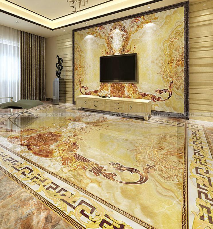 PS背景墙铺图 瓷砖效果图 铺贴样板间 铺砖效果图