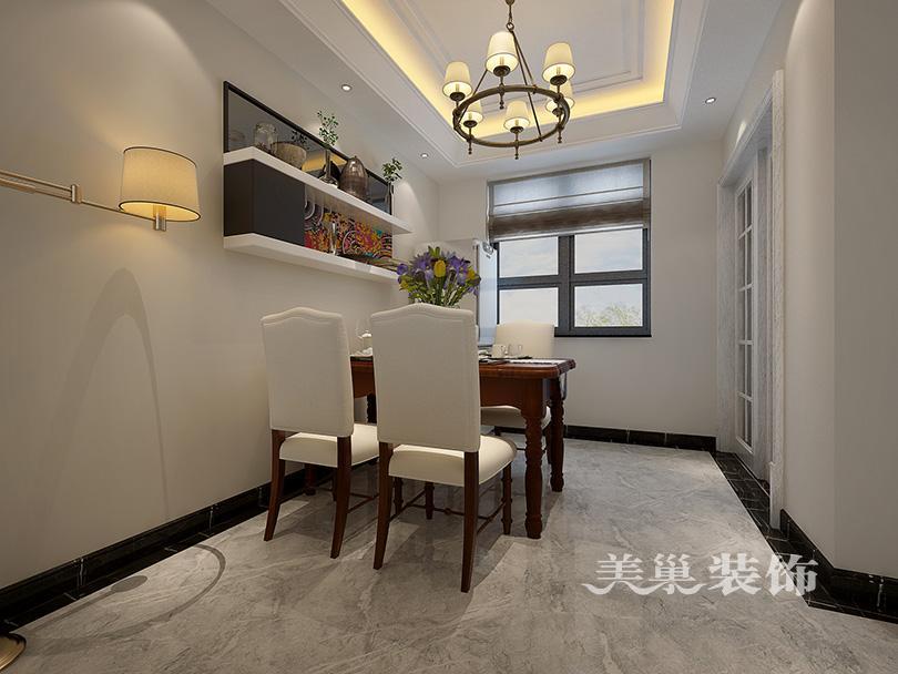 花美式120平装修设计三房两厅样板间高清图片