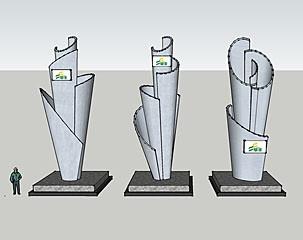 标志性雕塑造型