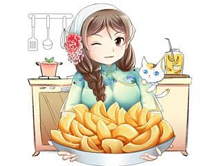 苏厨娘罐头人物形象