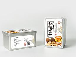 水墨中国风茶叶铁盒标签