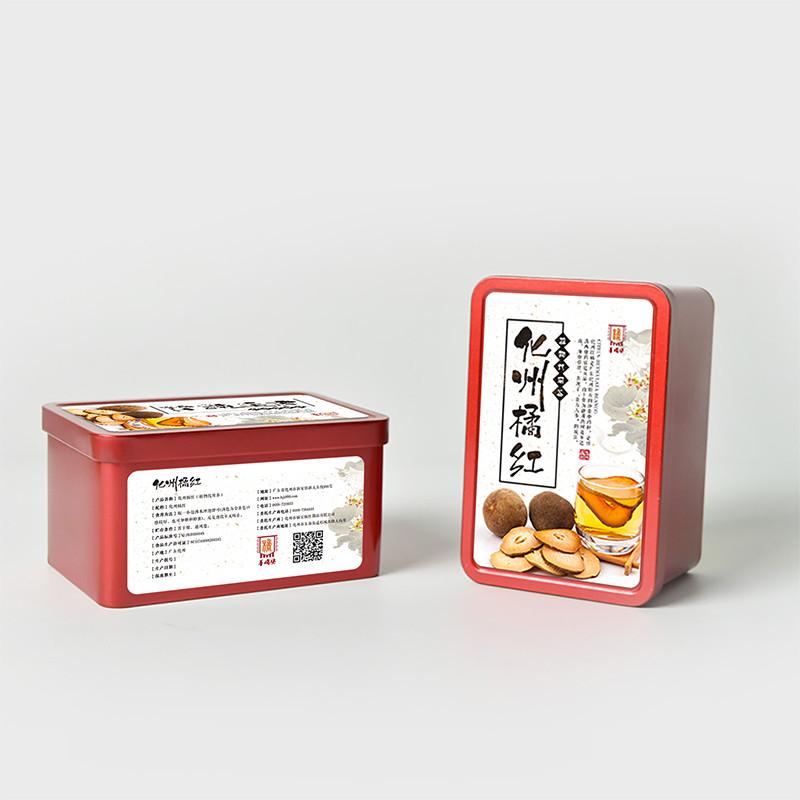 水墨中国风茶叶铁盒标签1