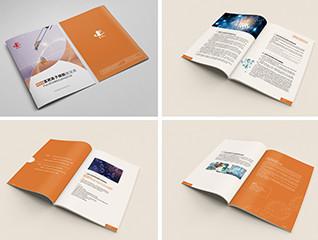 橘色企业画册设计