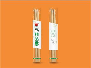 简洁清新竹筷包装