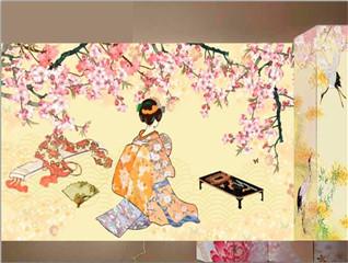 日式手绘图案