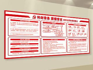 孝义市纪委大楼文化墙