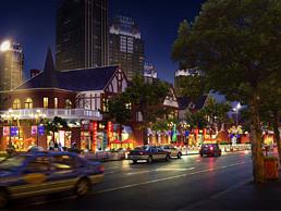 商业街亮化+鸟瞰图设计