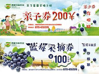 蓝莓采摘入场券设计及标签