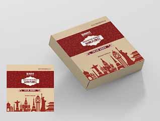 城市剪影瓷砖包装
