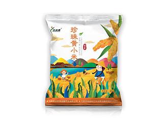 珍珠黄小米手绘包装