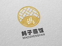 妈子蒸饭餐饮logo