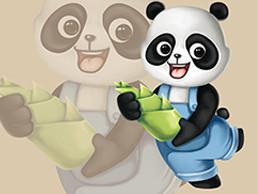 卡通熊貓吉祥物