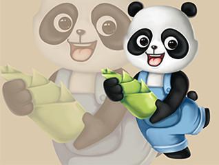 卡通熊猫吉祥物