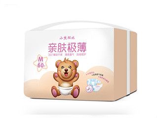 原创手绘小熊斑比纸尿裤包装