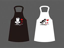 卡通情侣围裙图案设计