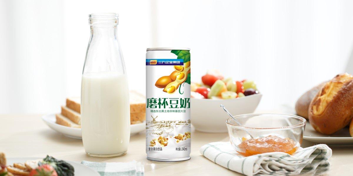 豆奶饮料包装设计 易拉罐饮料包装设计 植物蛋白饮料包装设计