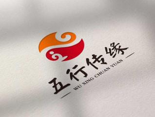 五行傳緣logo設計