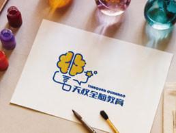 天权全脑教育logo设计