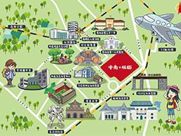 龙洞堡片区卡通地图