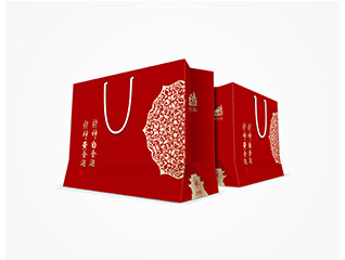 上海财神庙开光酒包装设计