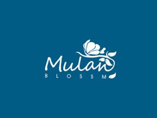 木兰花花店logo设计