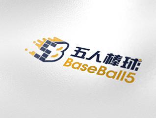 五人棒球运动logo