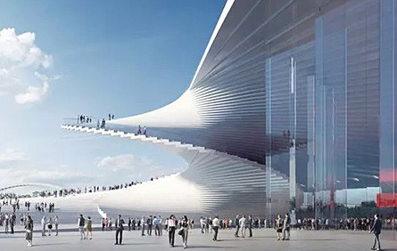 大膽+創新的美學 —— 大劇院的螺旋梯,上海的又一標志